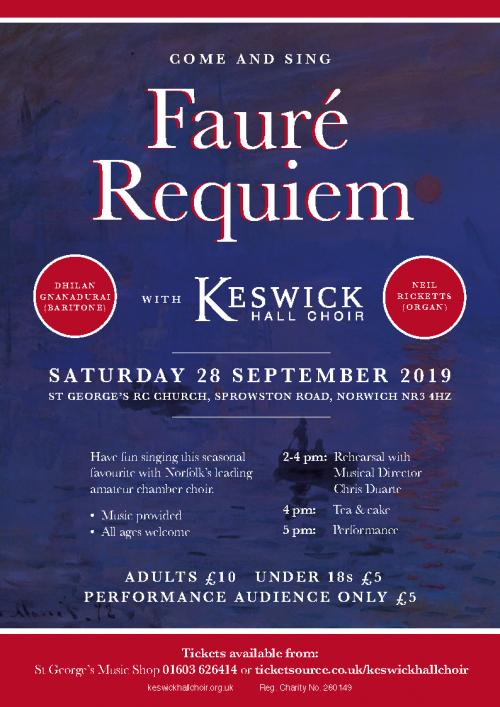 Fauré Requiem Keswick Hall Choir