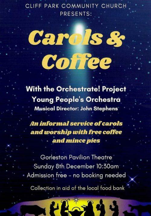 Carols and Coffee Gorleston Pavilion poster