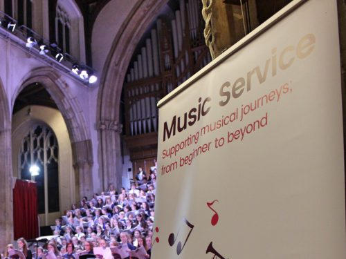 High Schools' Choir Festival with Norfolk Music Service banner
