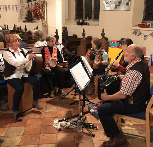 Ceilidh Band at Ludham Church