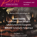 Norwich Phil poster for December concert
