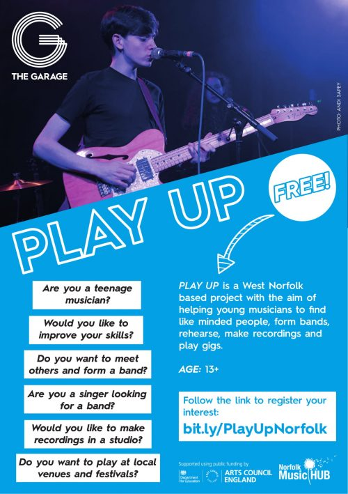 PLAY UP flyer West Norfolk
