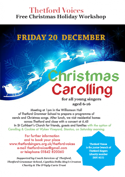 Thetford Voices Carolling Workshop poster