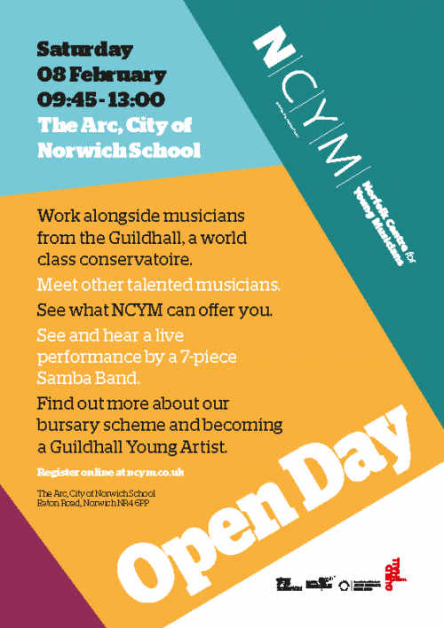 NCYM Open Day Flyer