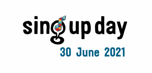 Sing Up Day logo