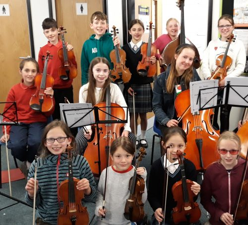 The Junior Strings section of WYMS (photographed before Covid!)